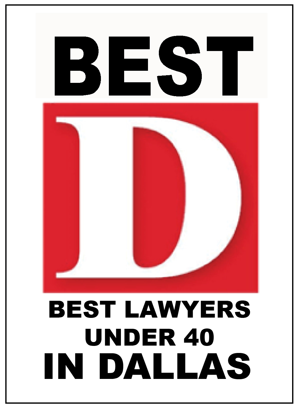 Best D Best Lawyers under 40 in dallas