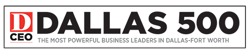 DCEO Dallas 500 badge the most powerful business leaders in Dallas Fort Worth
